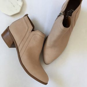 NEW Franco Sarto Leather Suede Ankle Boots